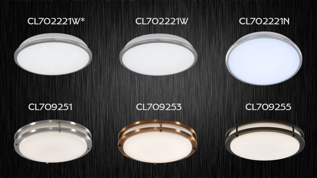 Светильники Citilux Луна - 702221W, 702221N, 702221W*. Светильники Citilux Дункан - 709251, 709253 и 709255