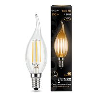 Лампа (LED) Светодиодная Gauss 7W E14 2700K  Filament Candle tailed 104801107